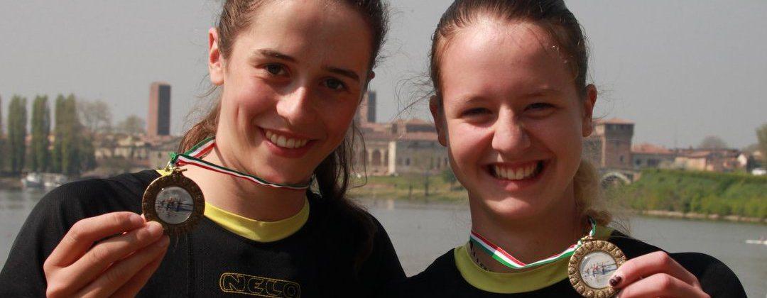 Špela in Taja, 3. mesto na mednarodni tekmi v Mantovi - Italija, 10.-12. 4. 2015
